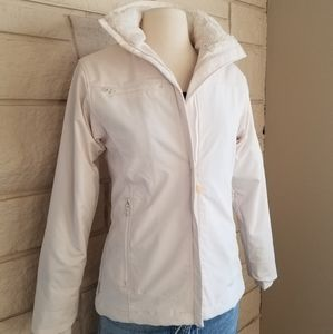 Columbia White Soft Shell Jacket Super Soft Lining